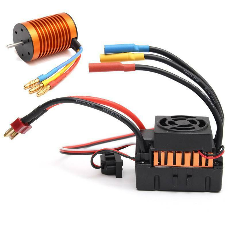 9T 4370KV Brushless Motor + 60A ESC Speed Controller Combo for 1 10 RC763 Crafts