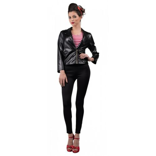 Details about  /50s Costume Adult Greaser Jacket Halloween Fancy Dress
