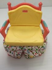 Fisher Price Loving Family Dollhouse Yellow Pink Fabric Sofa Arm Chair
