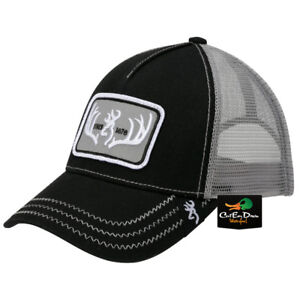 6f57f544168 NEW BROWNING TYPICAL MESH BACK HAT BALL CAP BUCKMARK LOGO BLACK ...