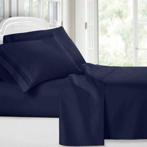 6 Piece Egyptian Comfort 1800 Thread Count Deep Pocket Bed Sheet Set BP