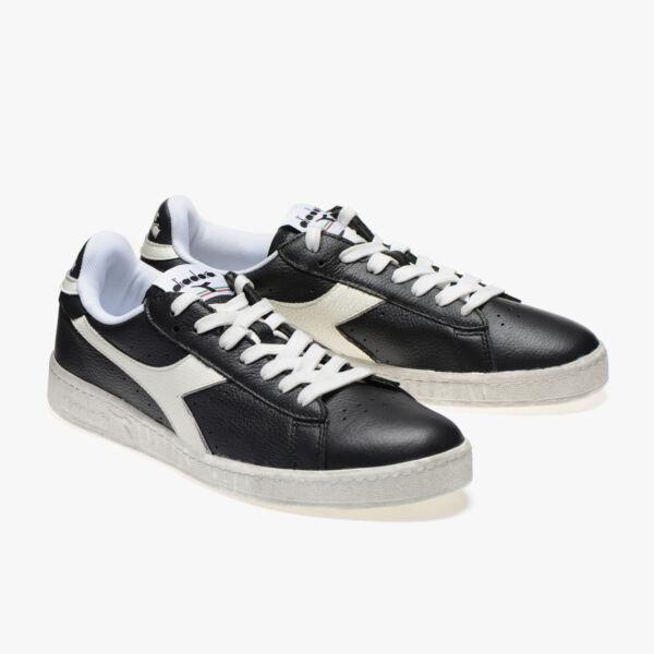 "2019 Nuevo Estilo Scarpe Diadora 160821 Game L Low Waxed Nere Sneakers Vintage Anni ""70"