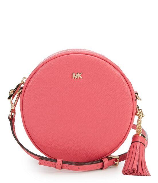 ea3c3d8ec998 Michael Kors Medium Canteen Pebbled Leather Crossbody 32t8gf5n3l Rose Pink