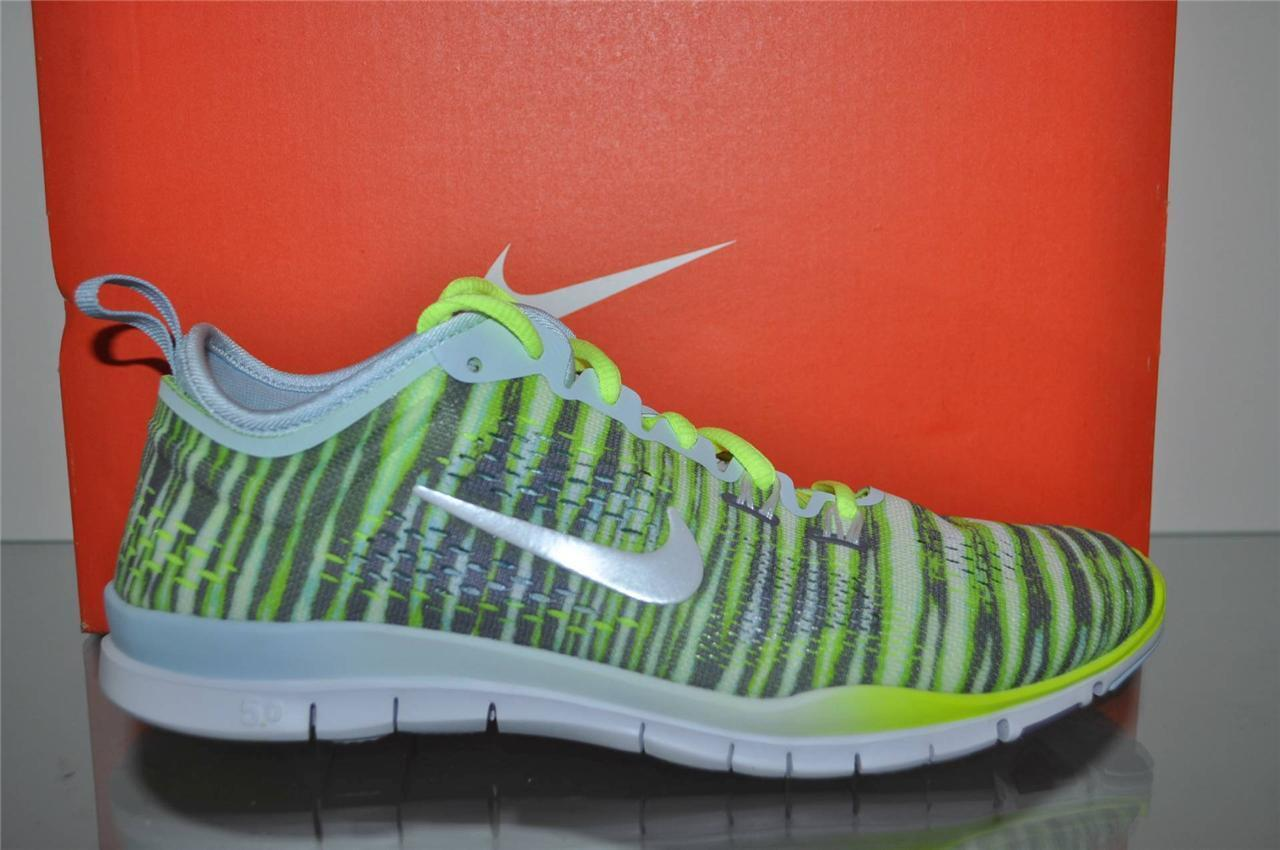 Nike Free 5.0 TR Fit 4 PRT Womens Running Shoes 629832 401 Tiger Volt NIB