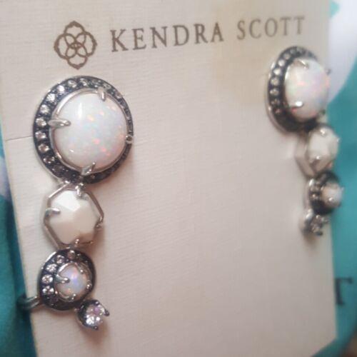 Kendra Scott Caralyn White Opal Howlite Ear Climbe