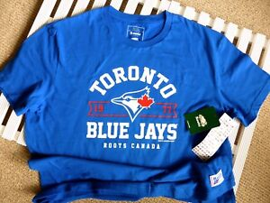 Details about XL Roots BLUE JAYS OFFICIAL MLB Baseball T Shirt Toronto MADE  IN CANADA