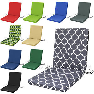 Removable Covers shape Back Chair//Seat Pads x 2 New Modern Colours with D