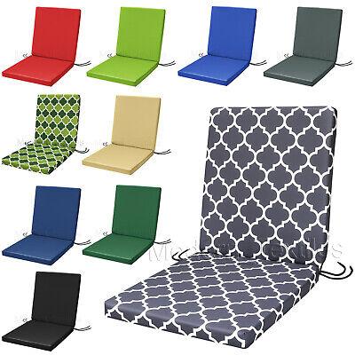 Waterproof Low Back Chair Cushion Seat, Waterproof Garden Seat Cushion Covers