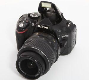 Nikon D5200 Dslr Digital Slr Camera Body Af S Nikkor 18 55mm 1 3 5 5 6gdx Lens 616320839796 Ebay