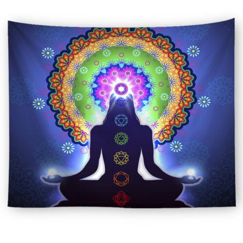 Indian Ethnic Tapestry Mandala Zen Wall Hanging Yoga Mat Decor Bedspread Mats