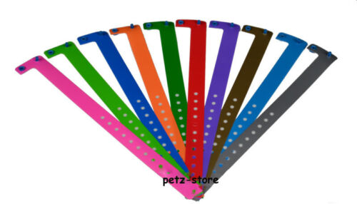 Wrist bands Childrens party super soft plastic 10 assorted Puppy ID collar