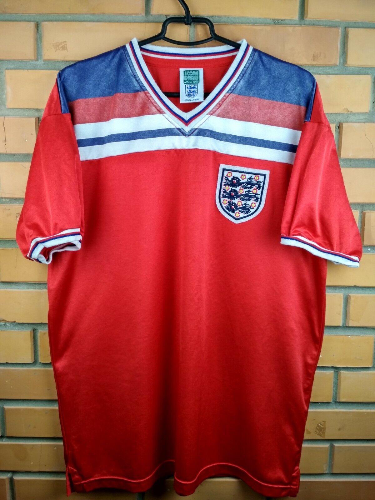 e7316dc1cd7 9.5 10 England soccer replica jersey XL 1980 1983 shirt away football Score  Draw