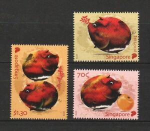 SINGAPORE-2019-ZODIAC-YEAR-OF-PIG-COMP-SET-OF-3-STAMPS-IN-MINT-MNH-UNUSED