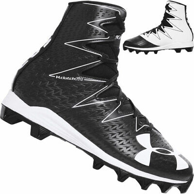 New Youth Under Armour Highlight RM Lacrosse//Football Cleats Black//White Sz 6Y