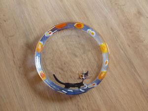 Rosina-Wachtmeister-Goebel-Katze-Glas-Teller-blau