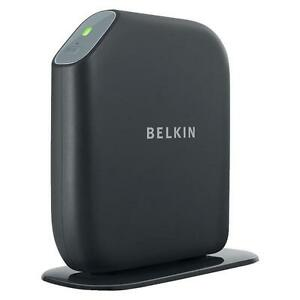 Belkin share n300 300 mbps 4 port 10100 wireless n router f7d7302 stock photo greentooth Choice Image