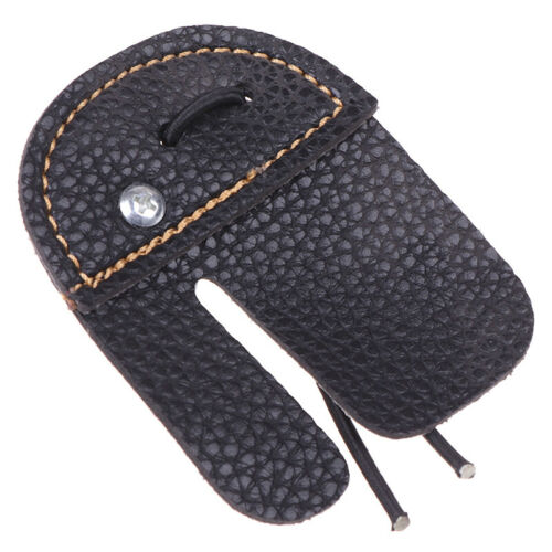 Leather Archery Finger Guard Protection Pad Glove Tab Bow Shooting Protector WS