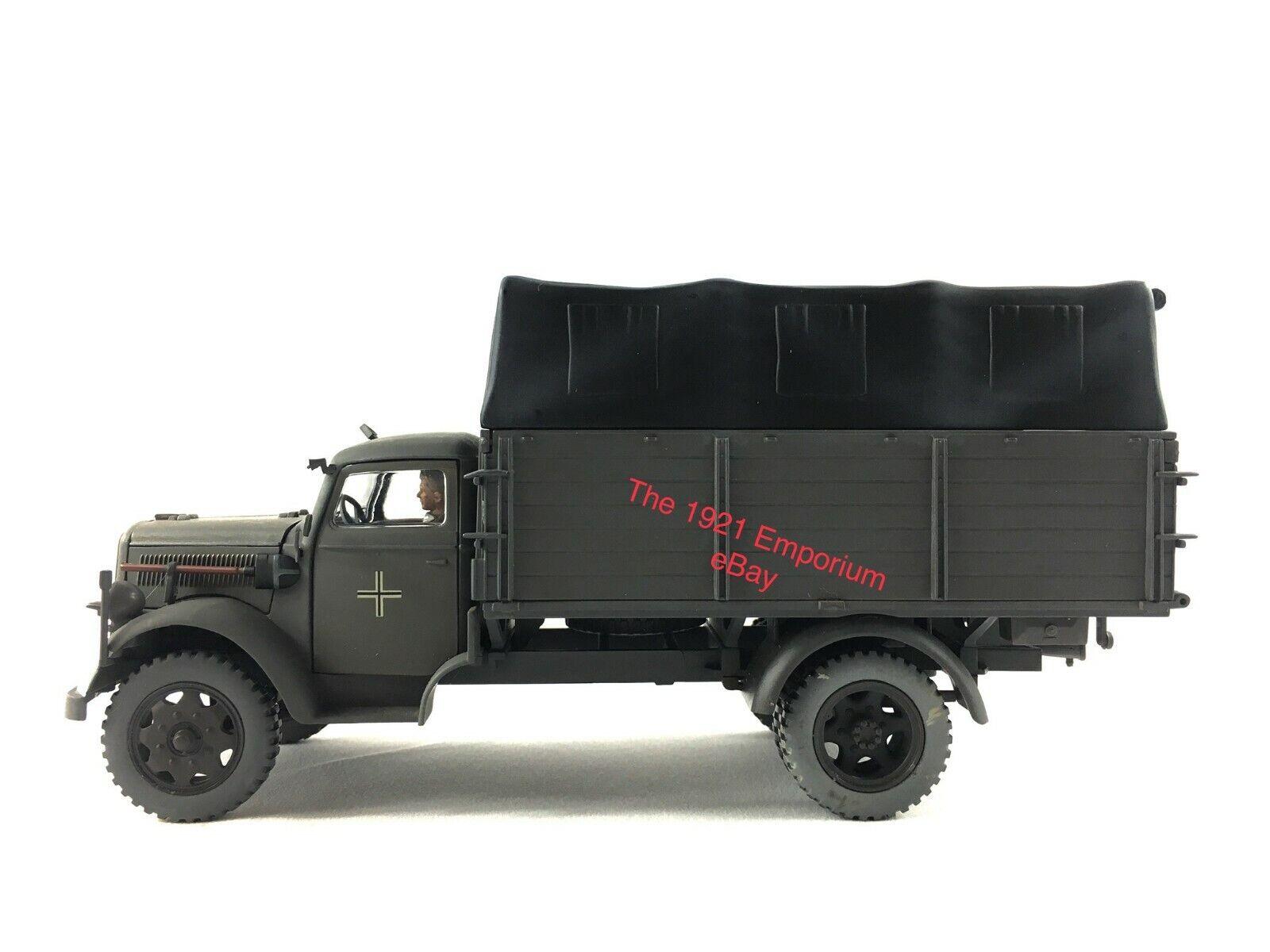 1 32 Diecast 21st Century Juguetes Soldado definitivo la Segunda Guerra Mundial Ejército Alemán Opel Blitz