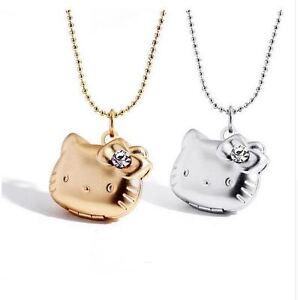 Girl hello kitty photo frame pendant floating locket necklace image is loading girl hello kitty photo frame pendant floating locket aloadofball Choice Image