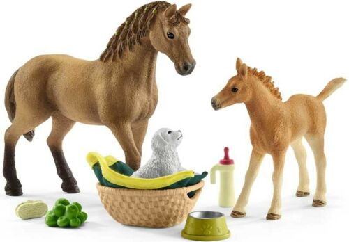 Schleich Cavallo Club Sarah/'S BABY cura degli animali 42432-Playset-FIGURE-NUOVA