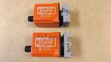lot of 2 NCC Solid State Timer Relay Model T1K-2-461 .05-2 sec. range w/ Sockets