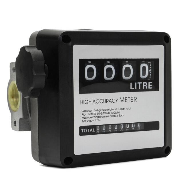 4 digital Diesel Fuel Oil Flow Meter Counter High Accuracy 1/%   my#
