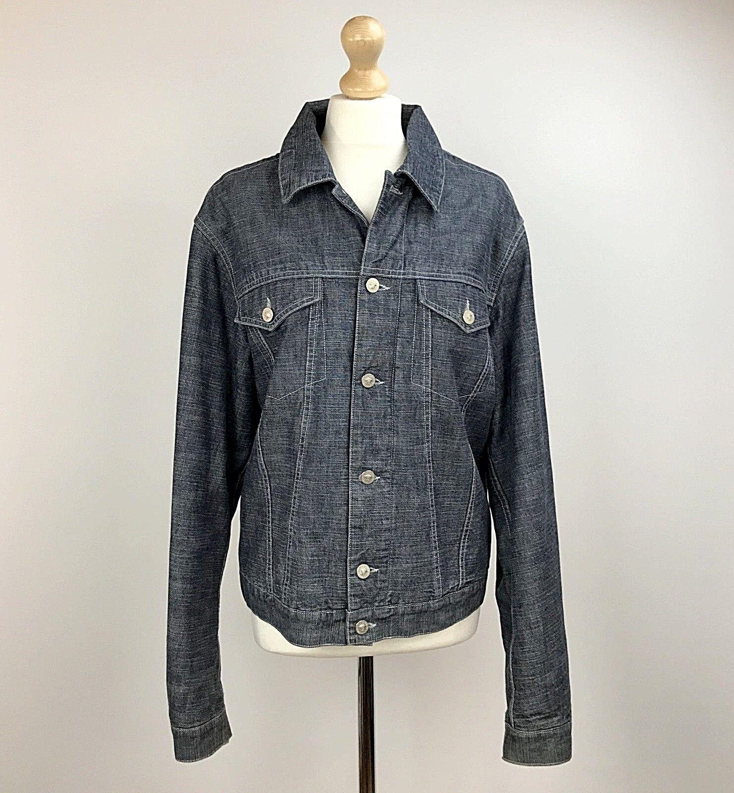 Versace Jeans Couture Jean jacke Blau Größe groß herren Button Chest 42
