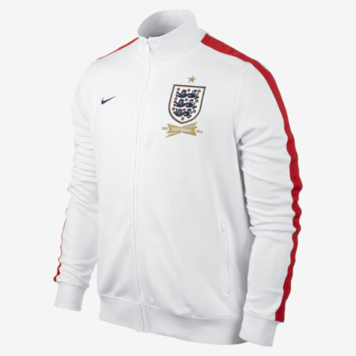 Nike Mens England Football N98 Track Jacket White Red Gold Size M L XL 2XL