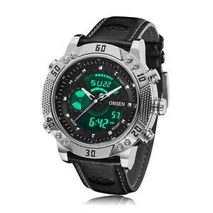 OHSEN-Mens-Military-Digit-Light-Date-Black-Leather-Big-Case-Quartz-Wrist-Watch