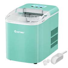 Portable Ice Maker Machine Countertop 26lbs24h Lcd Display With Ice Scoop Green