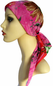 HEADWEAR FOR HAIR LOSS CHEMO HEAD SCARVES WITH ENCLOSED FRONT /& SIDE PADDING