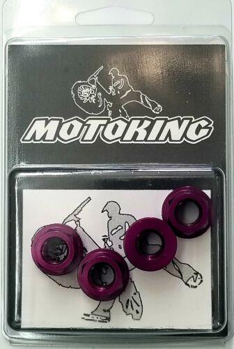 Fahrradteile & -komponenten Achsmuttern 3/8  X26t Motoking Bmx Deez Nuts Lila Aluminium Angeflanscht