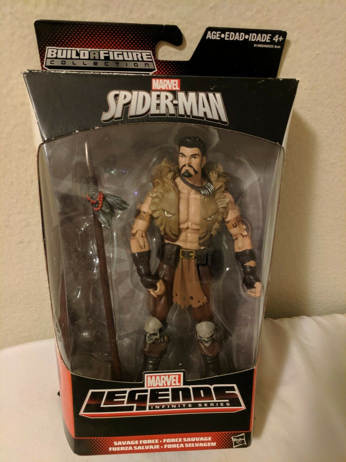 Rare Marvel  Legends KRAVEN action figure (Rhino BAF.  Rare and VHTF )  derniers styles