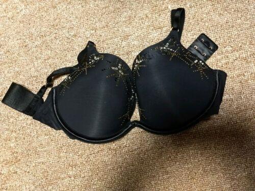 Victorias Secret Infinity Edge Extreme Plunge Push Up Bra 36C Black Cosmos  NWOT