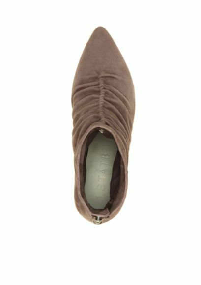 1. Saydie State Saydie 1. Scrunch Suede Dress Bootie - Zinc - Größe 9.5 Medium 2fc485