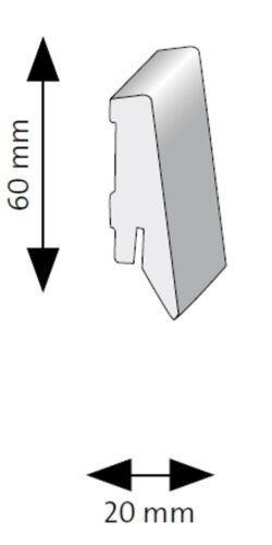Terhürne Formstücke Innen /& Außenecken Kappen Weißbeige für Sockelleiste SKL 60