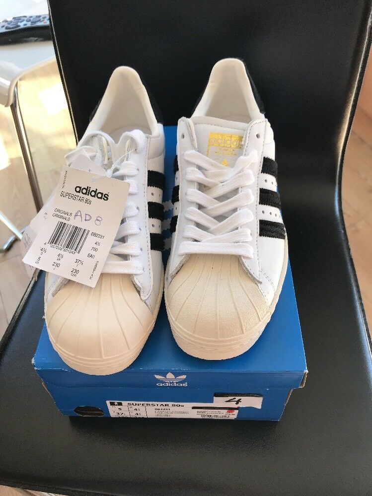 Adidas 80s Superstar Trainers BN Boxed UK 4.5