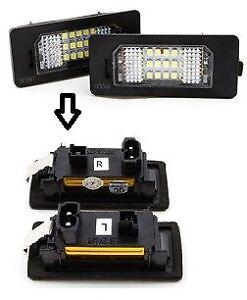 ARRIERE-PLAQUE-FEUX-2-LED-ECLAIRAGE-BMW-E39-E60-E61-E70-E82-E88