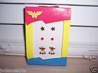 Dc Comics Wonder Woman Earring Set 3 Pair In Box Jacmel Jewelry