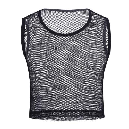 Herren Ärmellos Transparent Netz Hemd Kurz Muskelshirt T-Shirt Top Unteräwsche