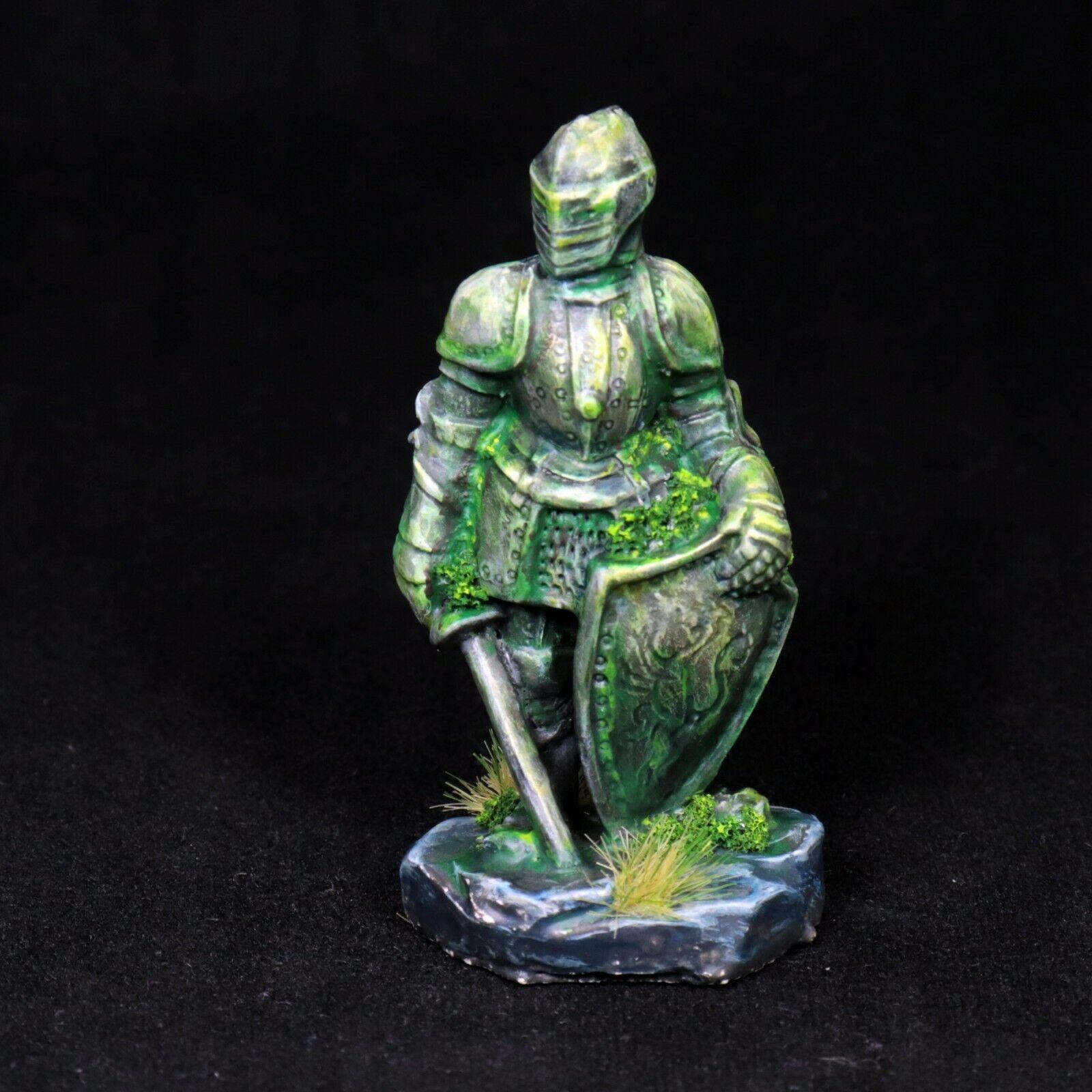 Painted miniature Stone Warrior Statue sheild sword  RPG Figure D&D furniture