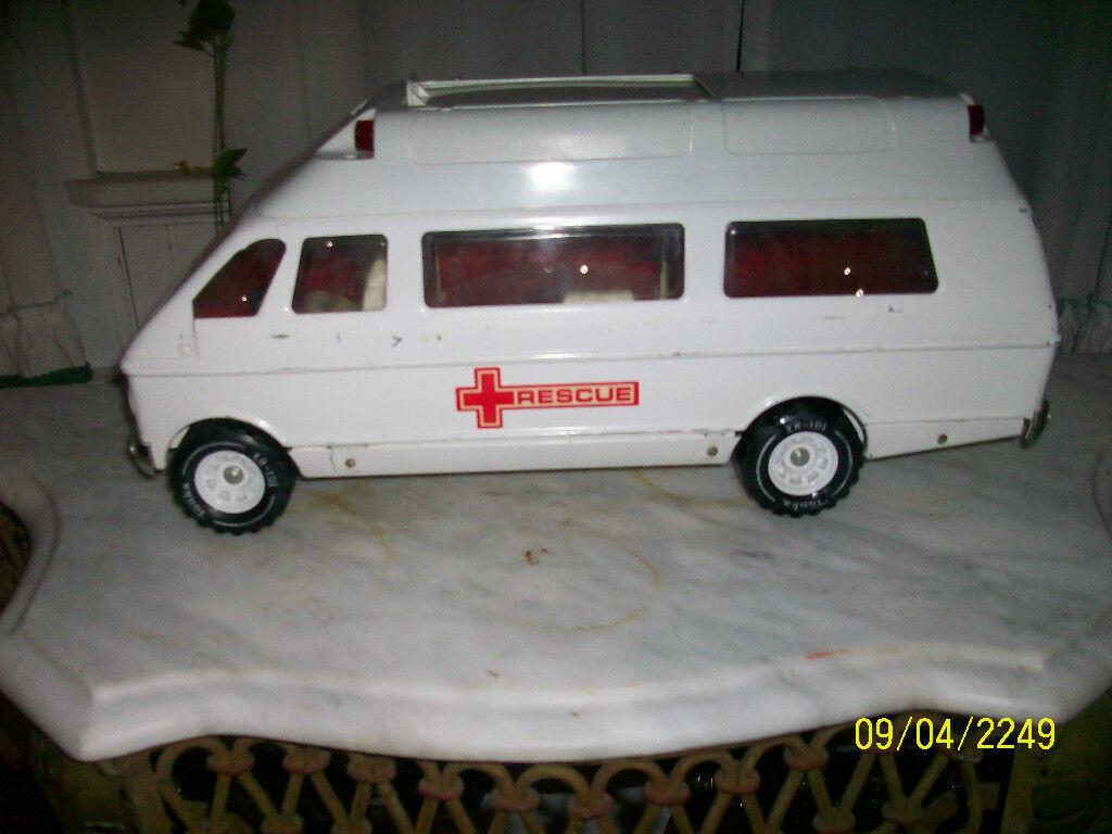 Années 1970 Tonka Rescue Van W. portes coulissantes latérales et arrière Porte. Bon état