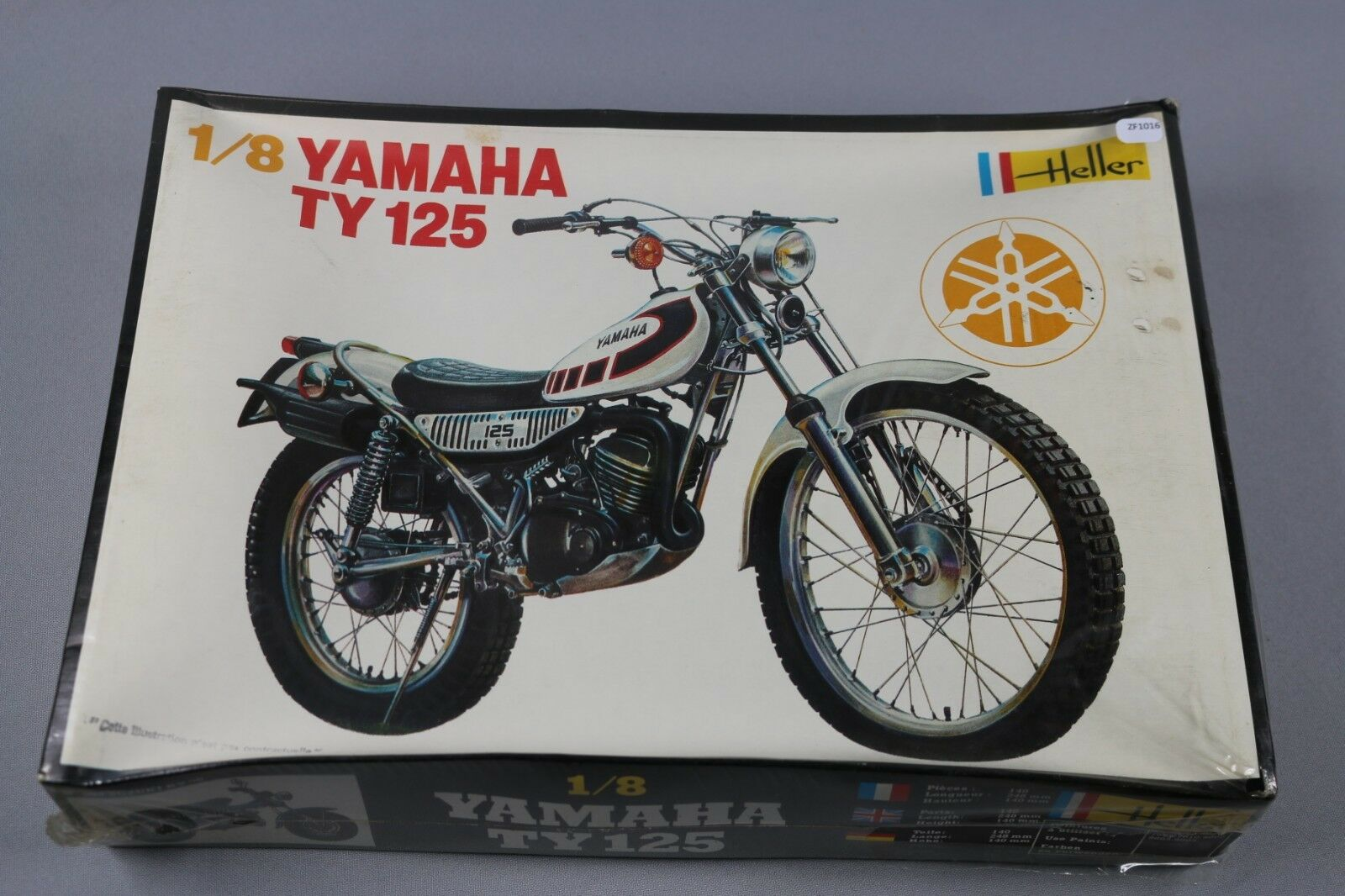Zf1016 Heller 1 8 modellololo Moto 902 Yamaha Ty 125 Trials 248x140mm 140 Parti