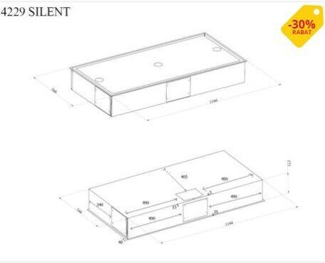 Loftemh. Hvid m. LED, SILENT–120 cm.–intern motor