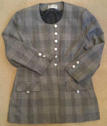 carreaux à taille pour Scardi noire grise femme collection Veste 16 65xqdOwO