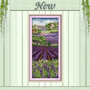 Lavender Fields Vervaco Cross Stitch Cushion Kit PN-0008637