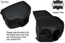 BLACK STITCH STEERING WHEEL SHROUD SKIN COVER FITS VW T4 TRANSPORTER CARAVELLE