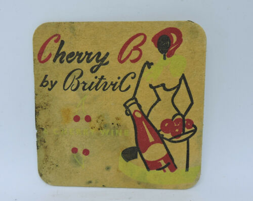 1960s CHERRY B by BRITVIC WINE hawaiian punch spicy sophisticated COASTER