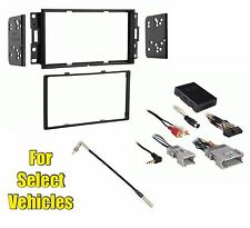 Double Din Car Stereo Kit Combo retains Steering/Onstar w/ w/o Bose for 04-08 GP