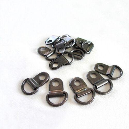 2//10//50//100pcs 11*14mm Metal Rivets D Rings Eye Boot Hiking Shies Repair Durable